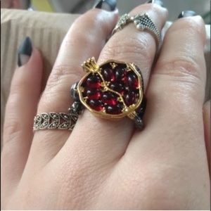 Garnet Pomegranate Ring